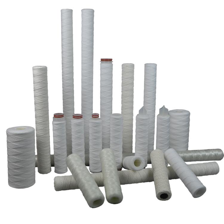 Guangzhou factory PP/SS core 10 microns cotton PP string yarn melt blown sediment water filter cartridge