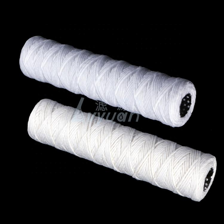 10 inch 20'' string wound filter spun pp filter cartridge for ro water filter