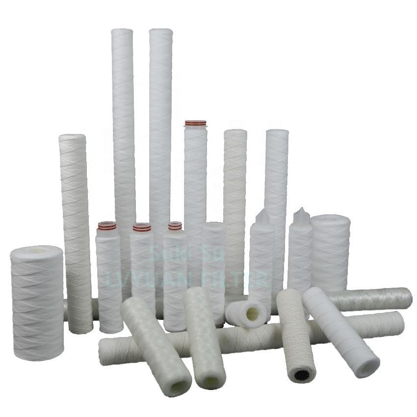 Manufacturer Food Grade beverage ink plating oil juice RO Water Filter 5 micron 1 10 25 50 um string wound type cartridge
