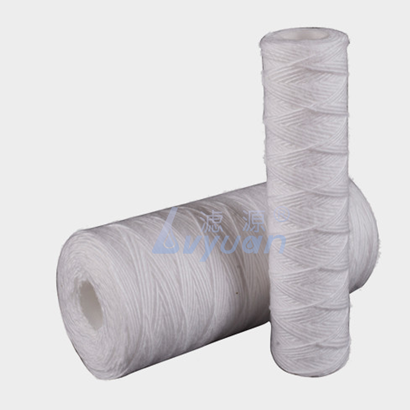 Big flow 10 20 inch string wound water filter 5 micron PP yarn string filter on sale