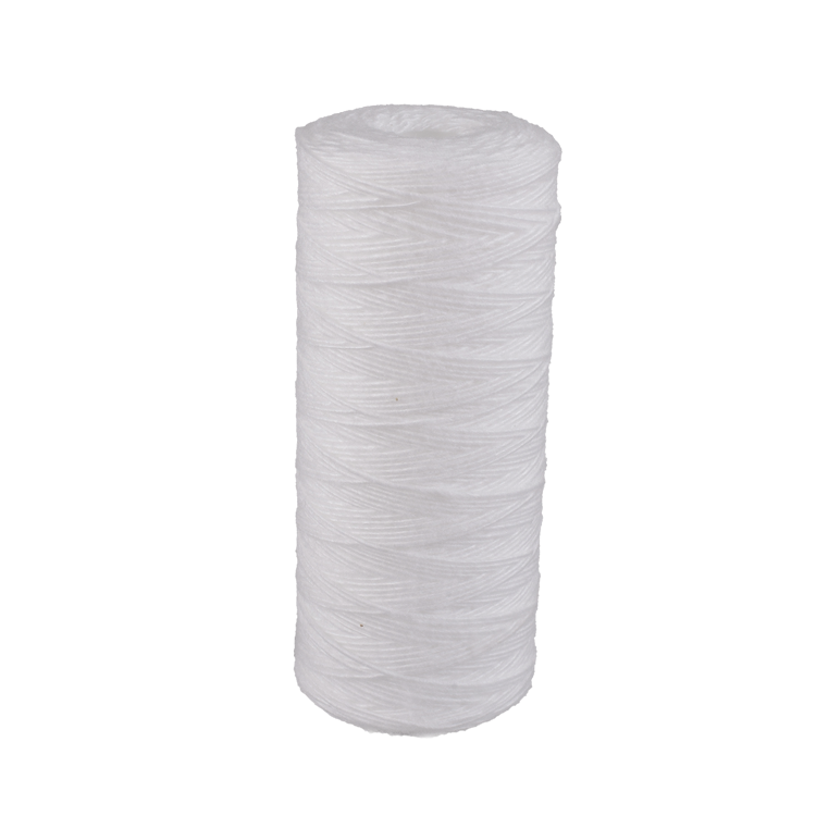 10/20/30/40 inch cotton sediment string wound 5 10 microns winding filter cartridge with PP stainless steel 304/316 core