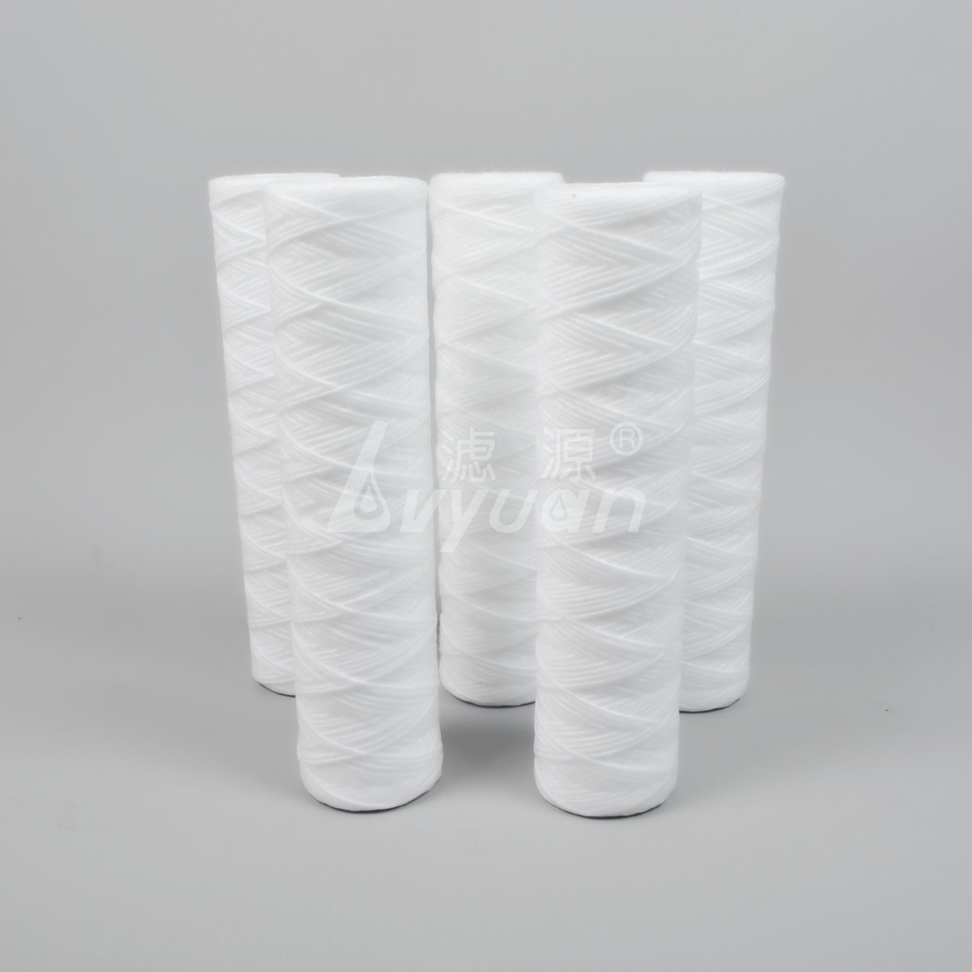 string wound filter cartridge/ pp sediment filter cartridge for water purifier 10 inch 50pcs/box DOE with pp core