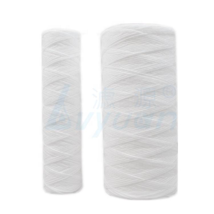 5 micron pp string wound sediment filter cartridge with pp filter core 10 20 30 40 inch for liquid filtration