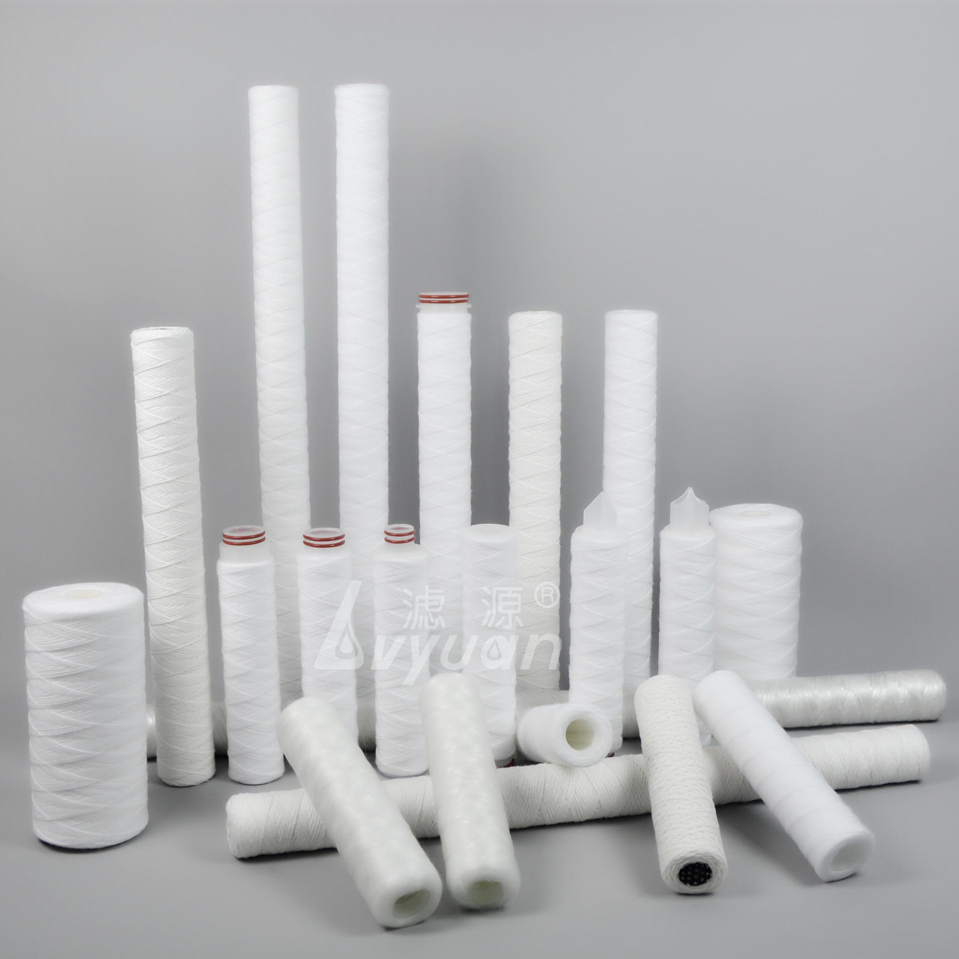 5 micron spun polypropylene water filter cartridge/string wound filter for juice/coffee filtration