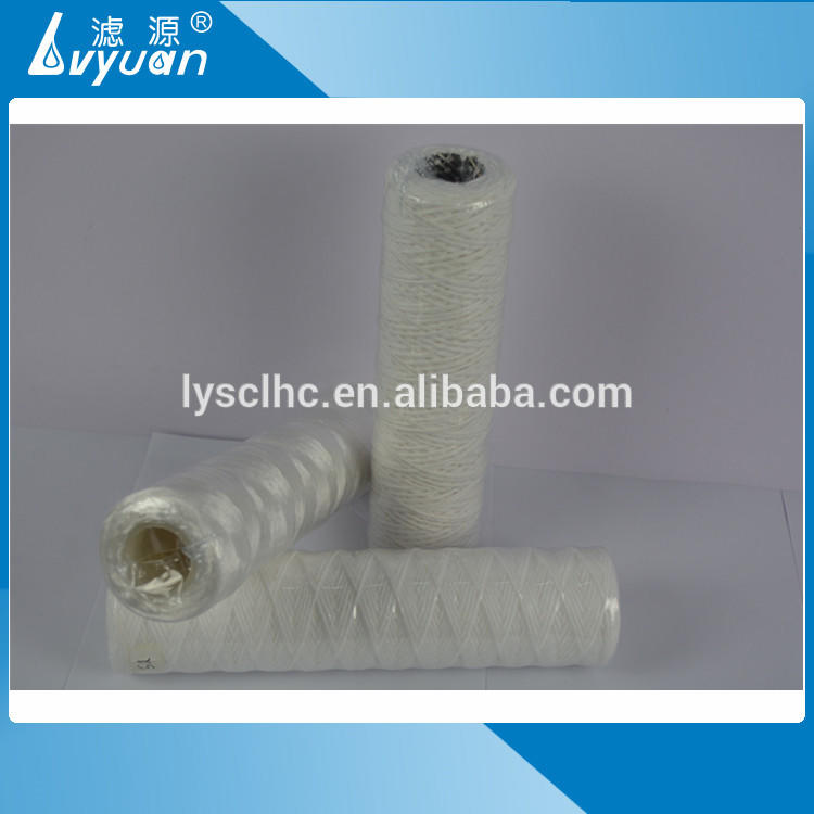 Customized size 5 micron 40 inch polypropylene string wound filter for industrial water filtration