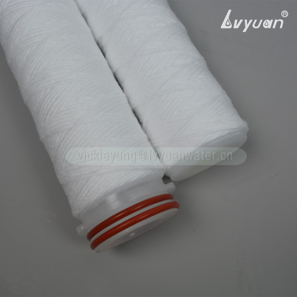 Sediment stainless steel core DOE SOE 40 inch 5 micron pp yarn filter cartridge for RO water treatment plant