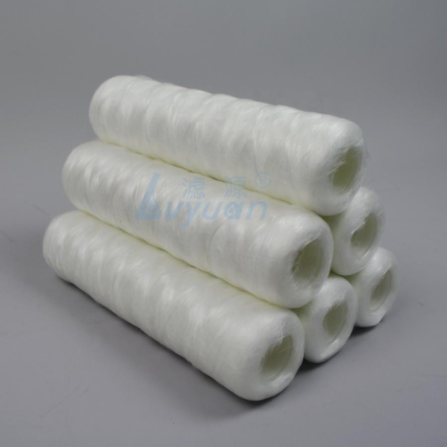 1 3 5 10 micron wire String wound Fiber Glass Wool Filter Cartridge with 10/20/30 inch