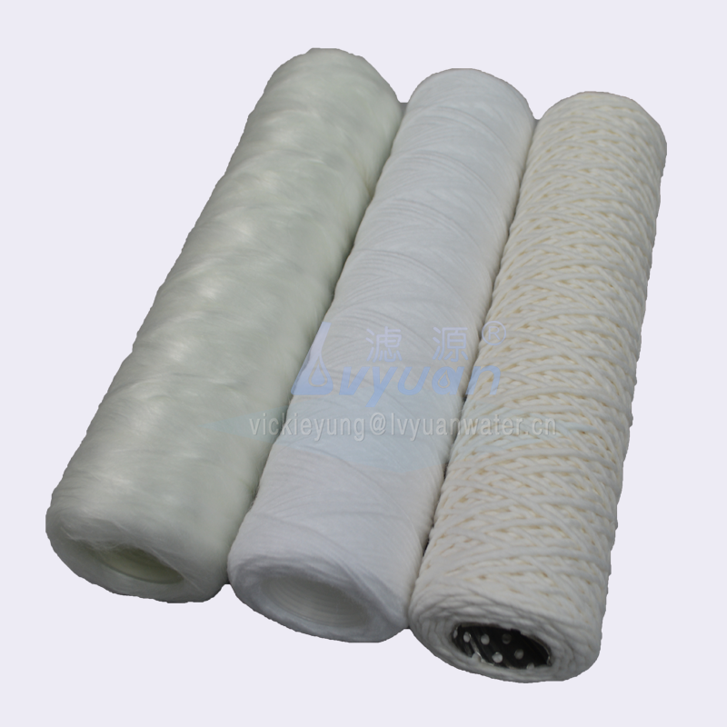 Water purification fiberglass PP Absorbent cotton 10 20 30 40 50 inch string wound filter cartridge for sediment filtration