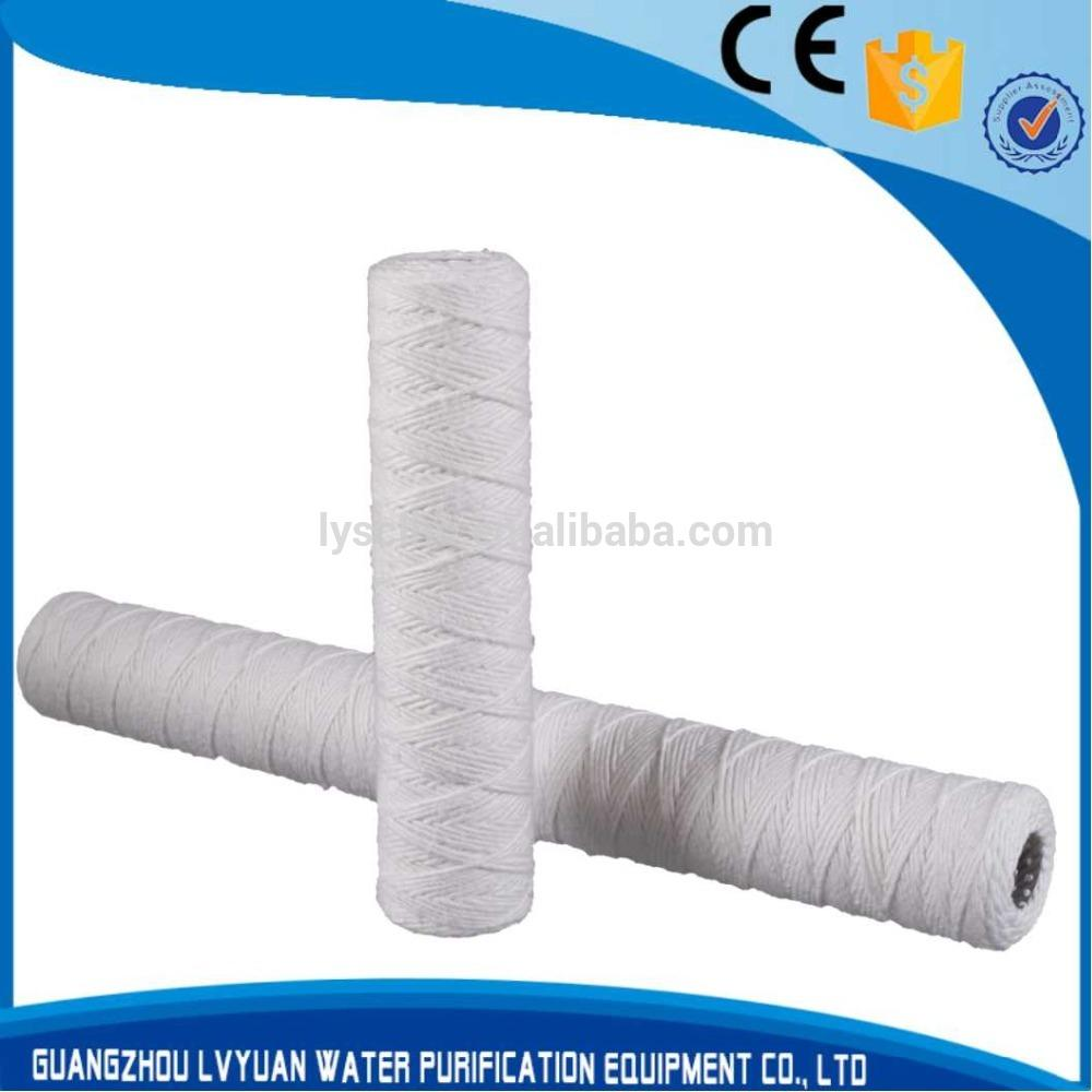 PP yarn / Glass fiber / Cotton string wound filter cartridge in water filters