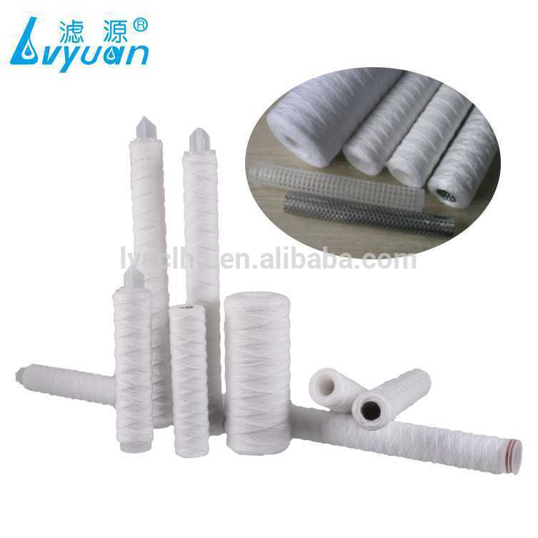 Micro wound filter cartridge PP yarn / Cotton / Fiberglass string water filters
