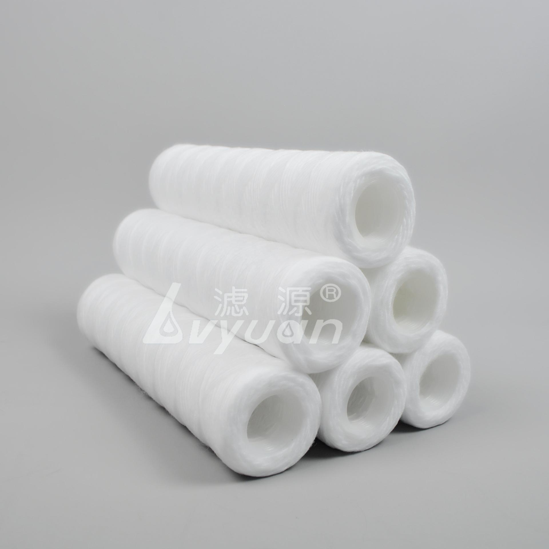 1 5 micron polypropylene filter cartridge/string wound filter cartridge/water cartridges for juice filtration