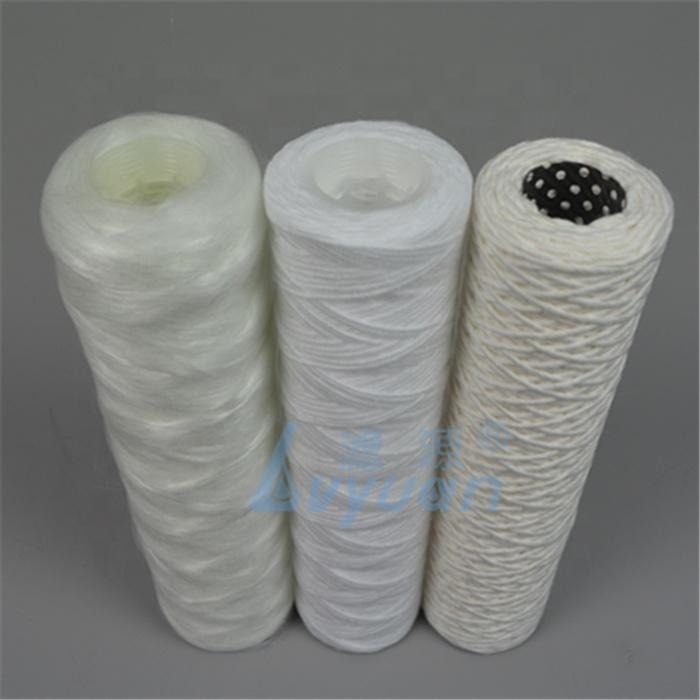 PP Cotton Wire Thread Fiber glass string wound cartridge filter for water purification