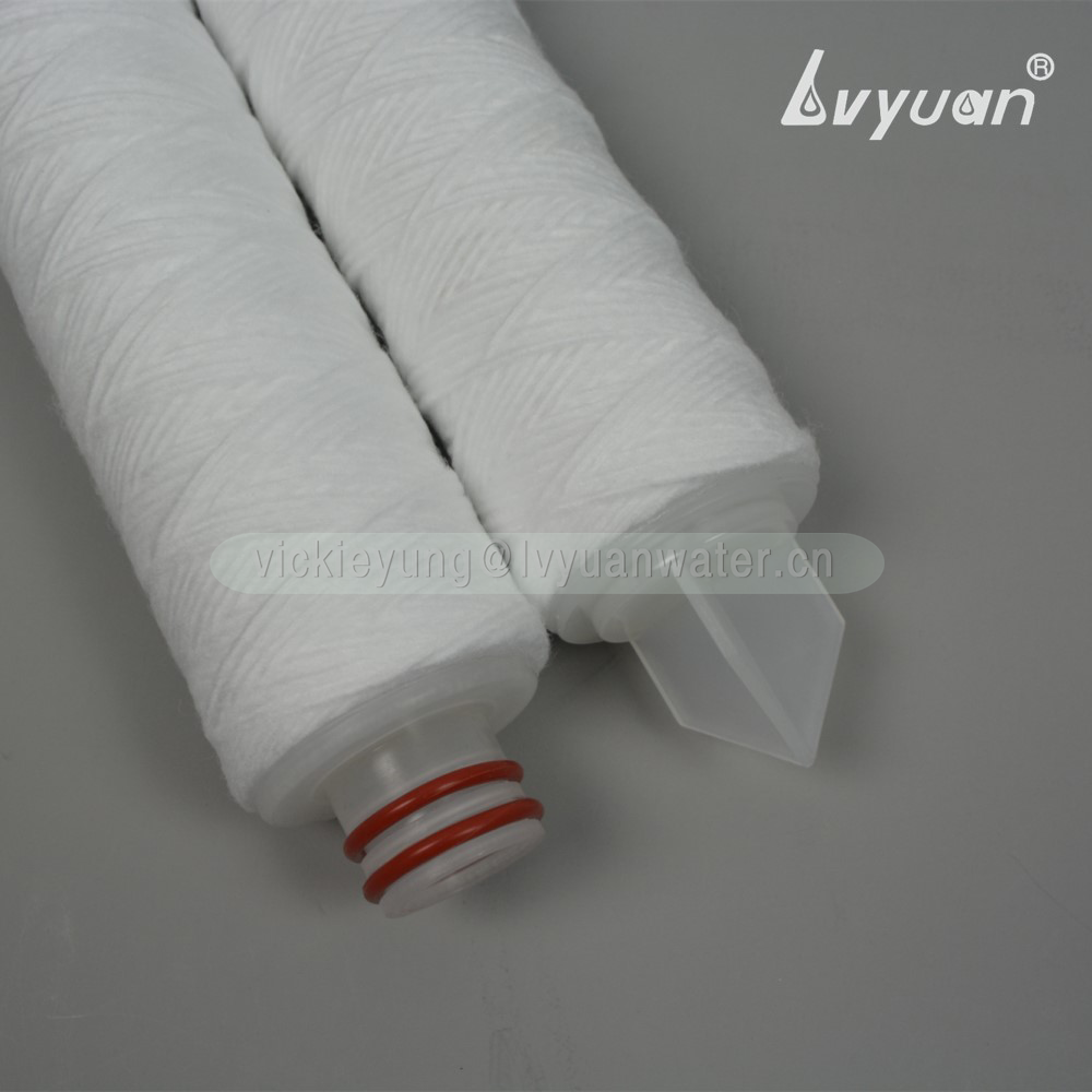 Cotton SS core filter 50 microns sediment string wound 10/20 inch water treatment filter cartridge for water filter housing