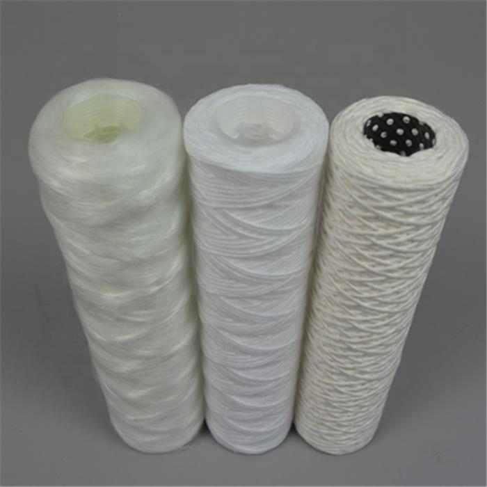 Polypropylene String Wound Filter Cartridge water with 10'' 20'' 30'' 40'' inch Thread