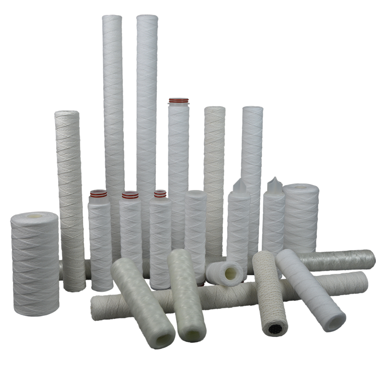 Guangzhou factory SL & BBL 10 20 inch PP yarn string wound water filter with 1 5 micron wire wound
