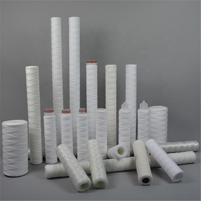 Hot Seller String wound PP yarn water filter cartridge with 10 20 30 40 50 inch