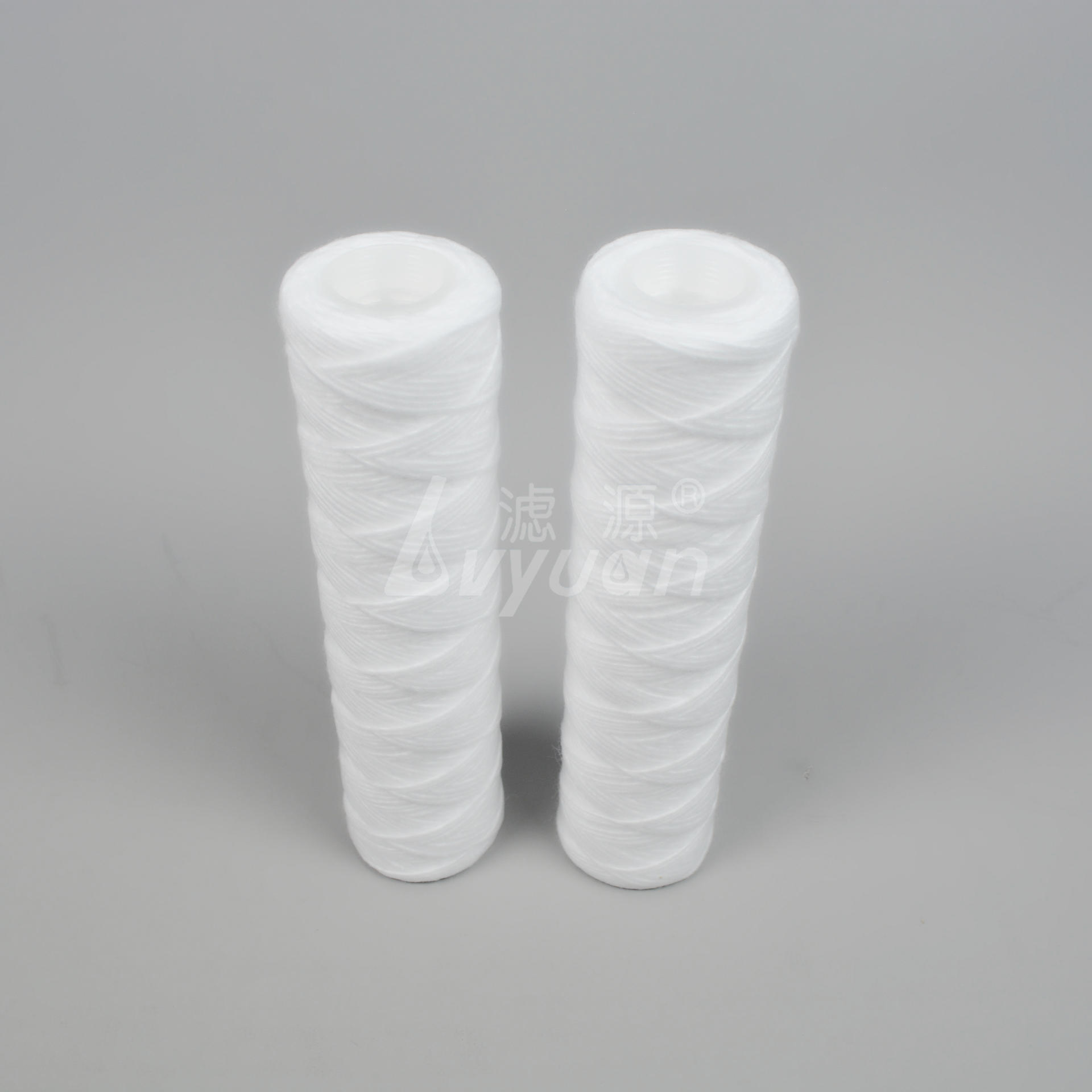 1box/50pcs 1 3 5 10 micron 10 inch spun polypropylene filter cartridge/pp string wound yarn filter cartridge for water filter