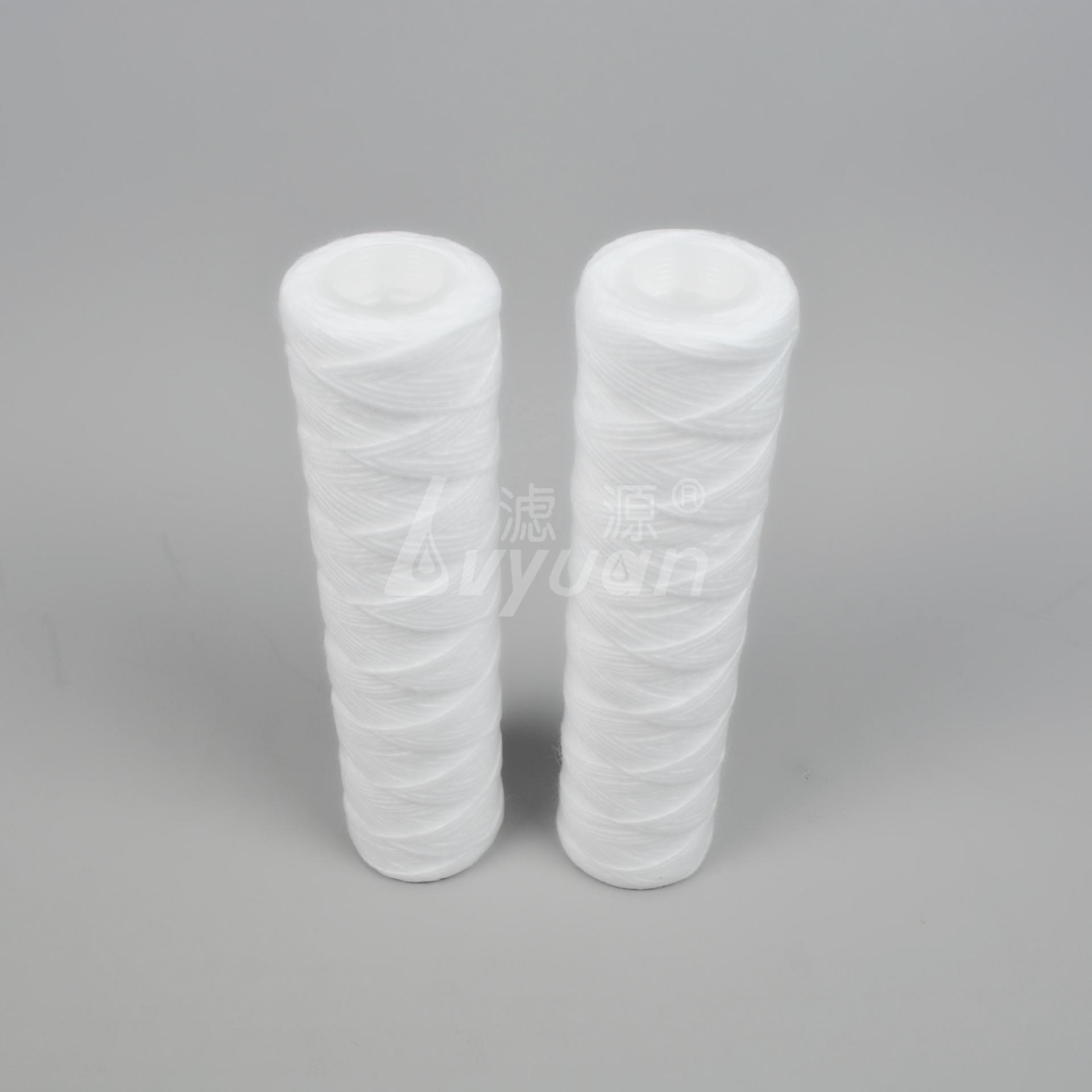 40 inch 5 micron polypropylene spun yarn water cartridge /cotton/ fiberglass string wound water filter cartridge