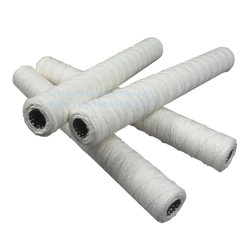 1/5/10/20/25/50 Micron Food Grade Cotton String Wound Cartridges Honeycomb filter cartridge with 304 316L stainless steel core