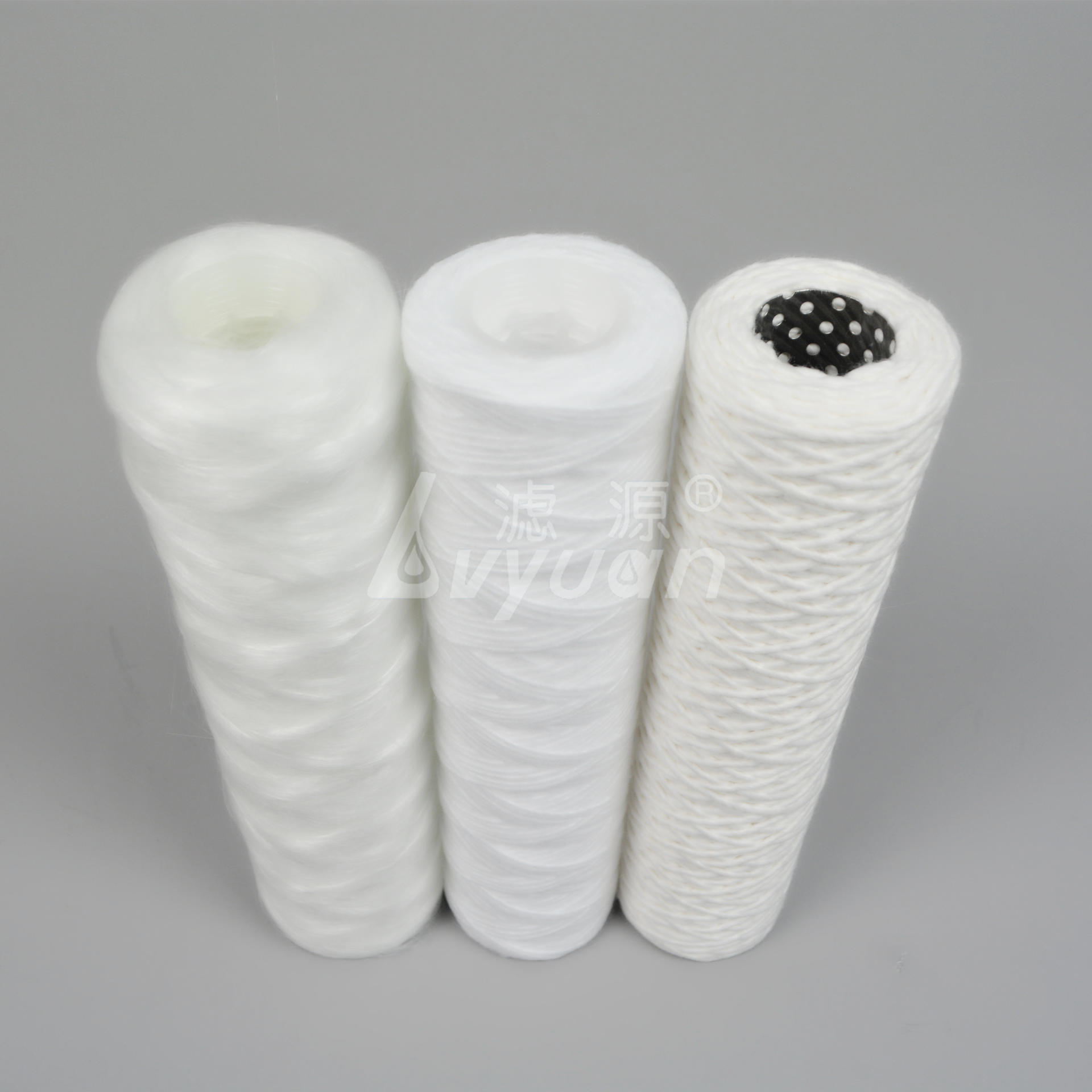 pp string wound filter cartridge/spun polypropylene water cartridge customized length 10 20 30 40 inch for pre filtration