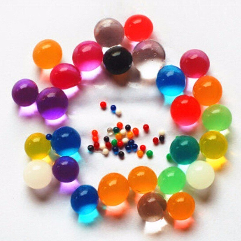 Low-cost production of pearl-shaped hydrogel beads crystal jelly water bead toys