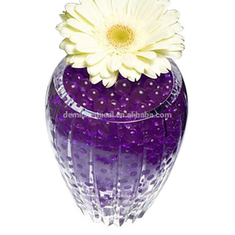 Rhos , REACH Certificates Eco-Friendly SAP Material Gel Ball Water Beads , Flower Plant Clear Crystal Soil
