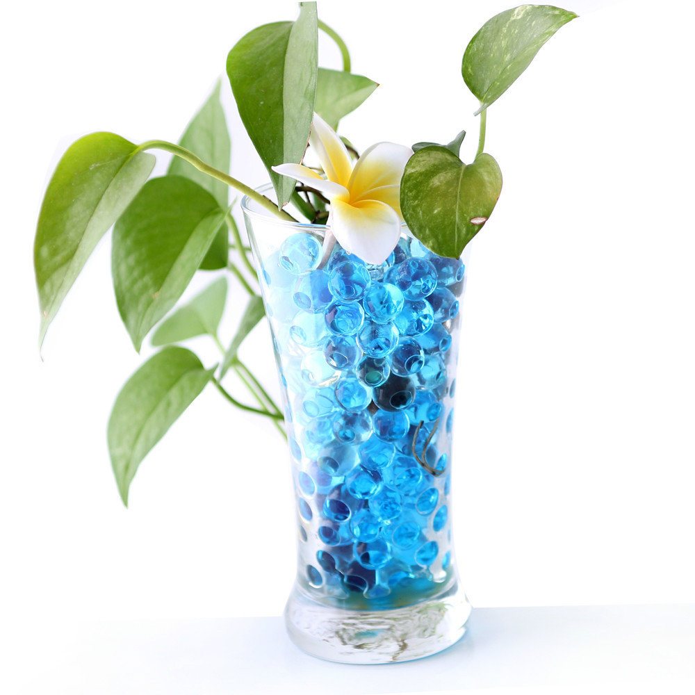 Factory supply attractive price pearl shape big crystal soil water beads for lucky bamboo