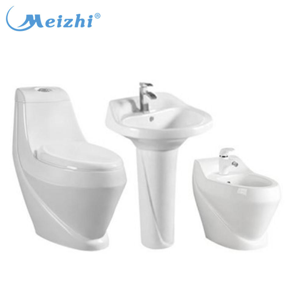 Lebanon Big Outlet 4 inch Bathroom Ceramic Toilet Basin Combination