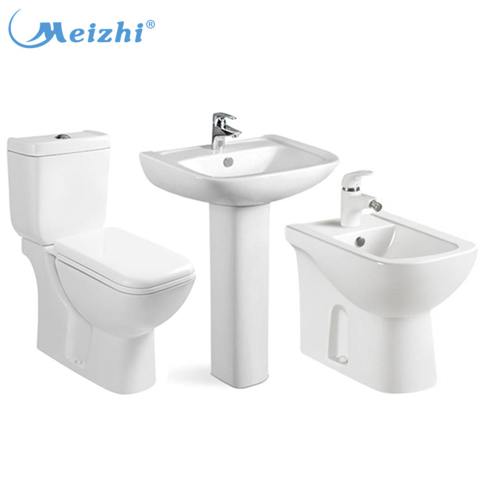 Bathroom products restaurant toilet basin combination with bidet