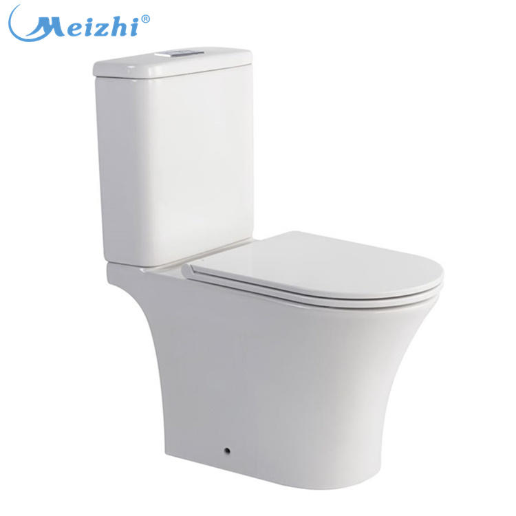 Bathroom ceramic washdown two piece wc toilet with s-trp/p-trap