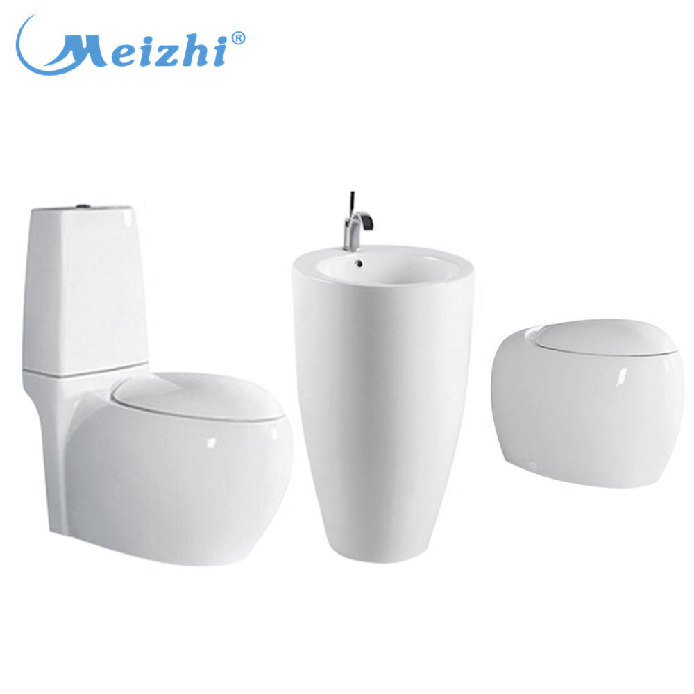 Washdown sanitary ceramic water closet,toilet with basin set