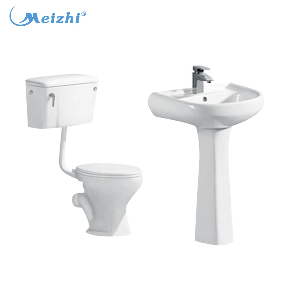 Ceramic modern two-piece twyford wc toilet set