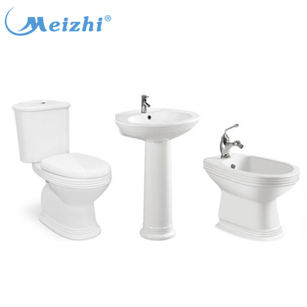 China supplier sanitary ware two piece wc modern porcelain toilet set commode