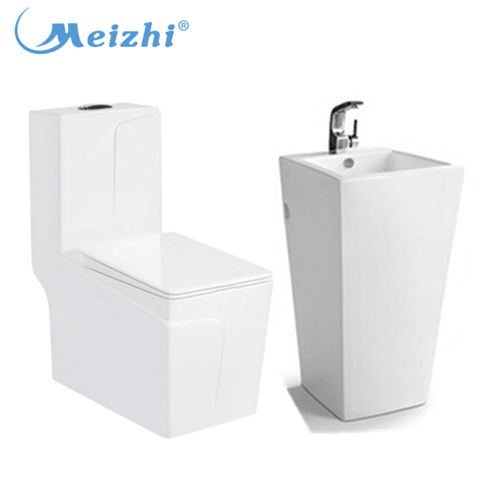 Roual luxury decal bathroom toilet set
