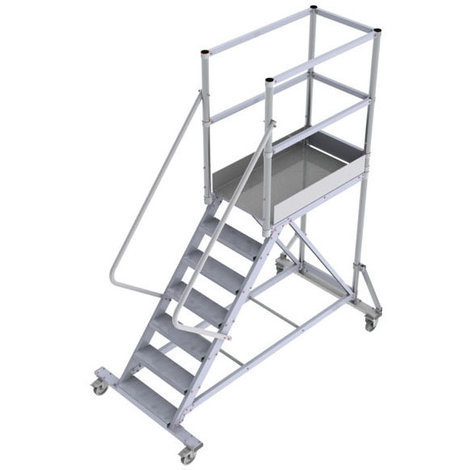 Comfortably and Safely Aluminum Rolling Ladder