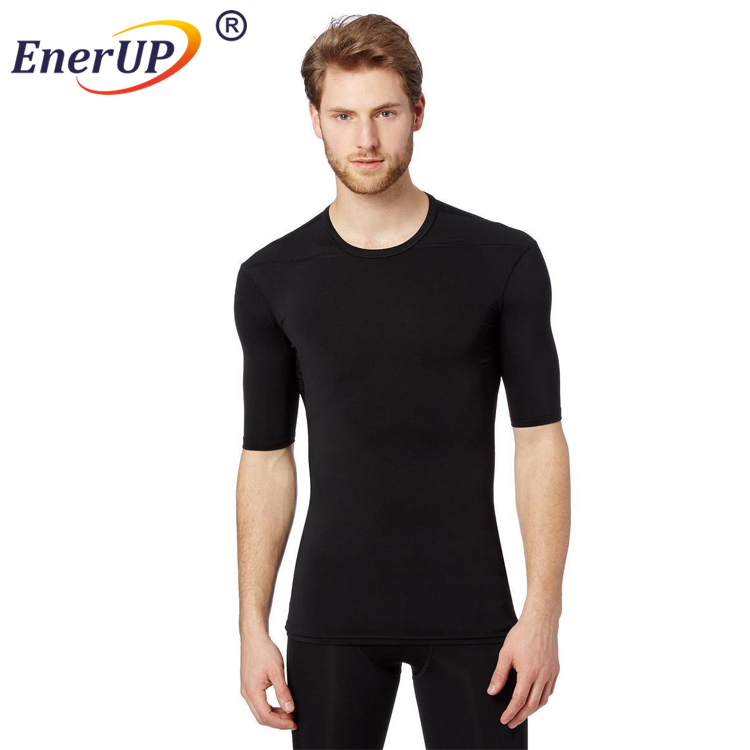 mens skin tight copper infused compression sports t shirt