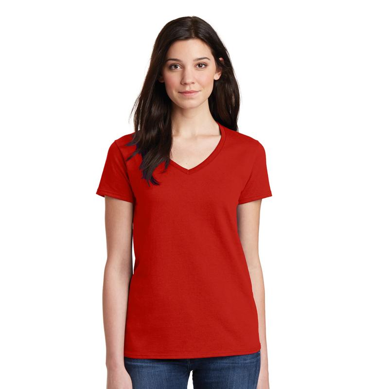custom white cotton v neck unisex t shirt