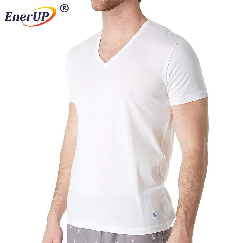 fitted white blank v neck mens muscle fit tshirts
