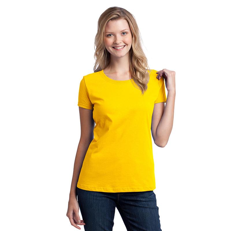 custom logo yellow fit short sleeves gym running t shirts supplier