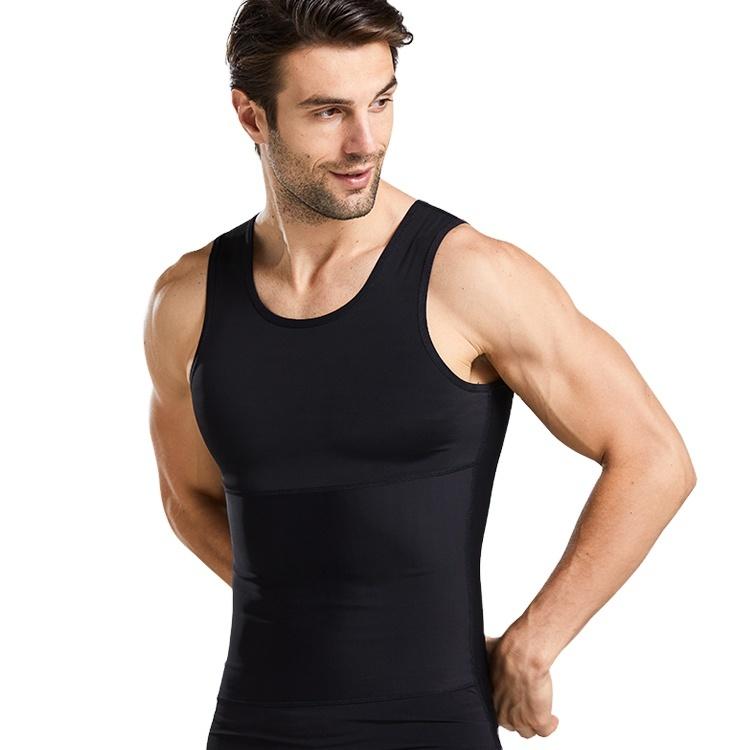 Enerup Compression Slim Tank Top Undershirt Slimming Body Shaper Men Vest