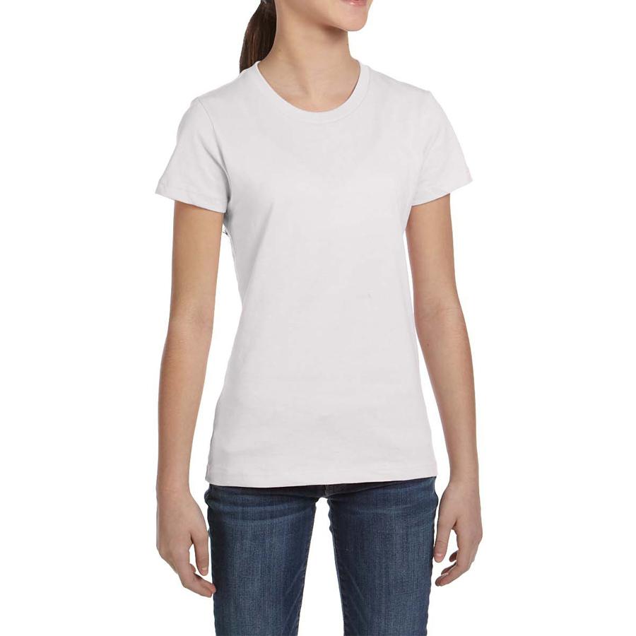 blank cotton white girls gym sports tee shirt