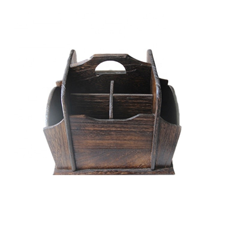 wholesale VL-PH02 unfinished natural eco-friendly office home desk storage organizer wooden pen holder