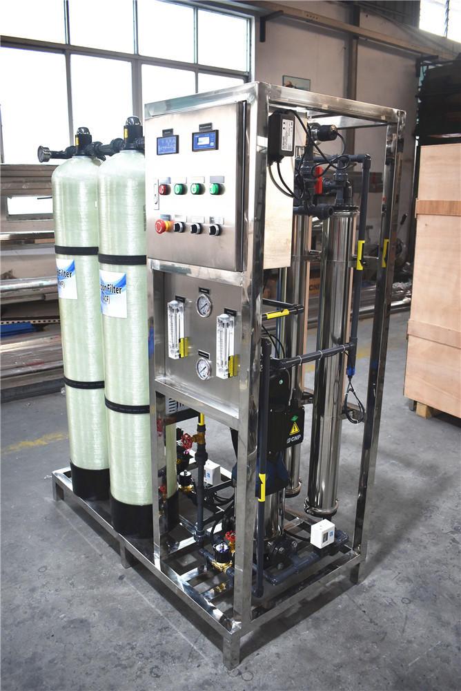 Guangzhou 500LPH ro water treatment machine mini water plant