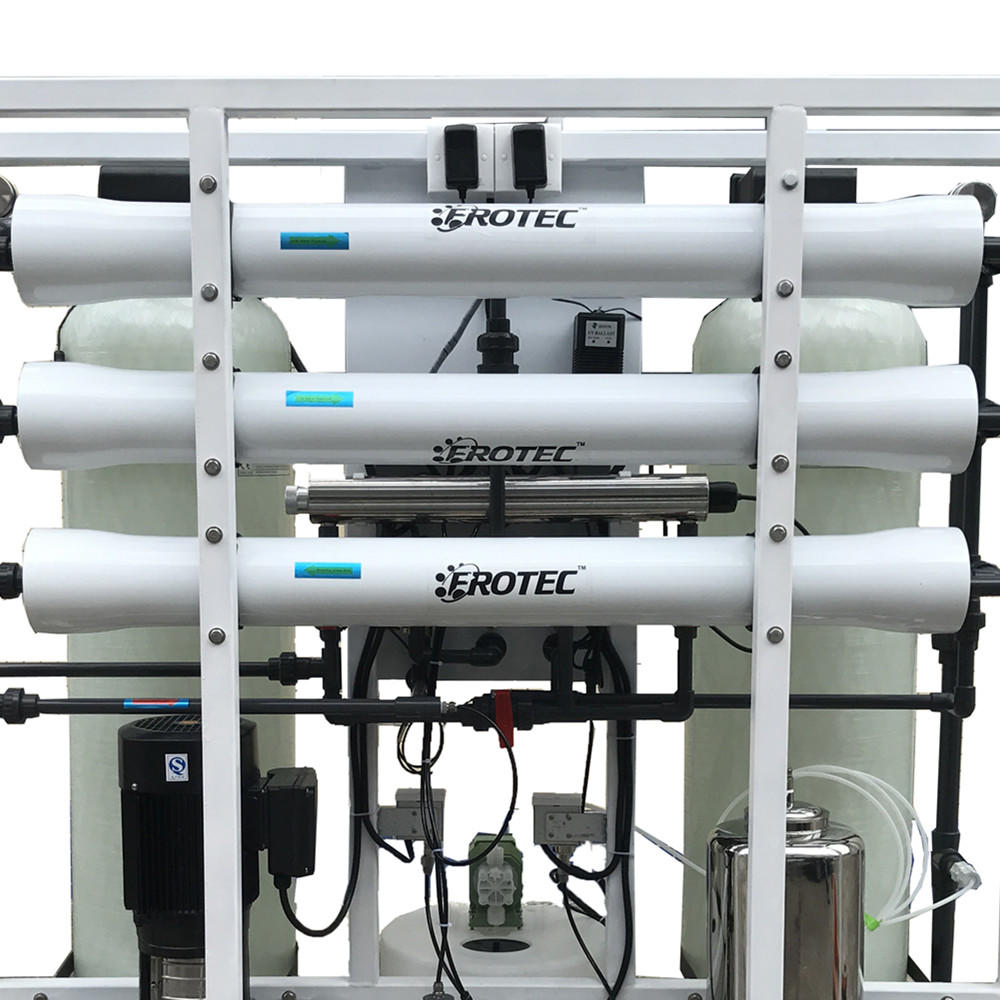 750L/H water purification system for ro pure water equipment with 4040 FRP tank