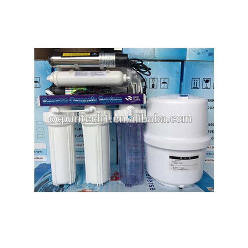 Direct drinking home 50GPD 6 stage filter water plant reverse osmosis water with UV
