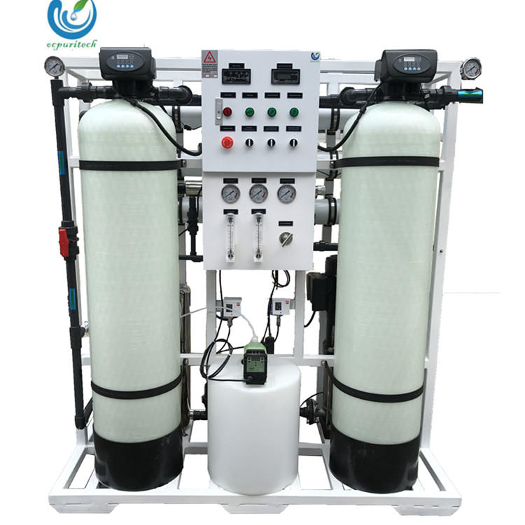 750LPH Drinking water purifier machine for water treatment with 4040 FRP  tank-Ocpuritech