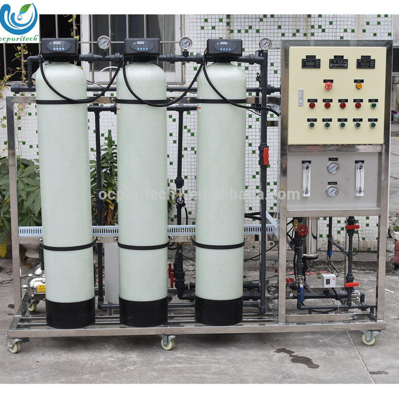 China 250 lph water purifier/ro water treatment plant with industrial water pumps for sale