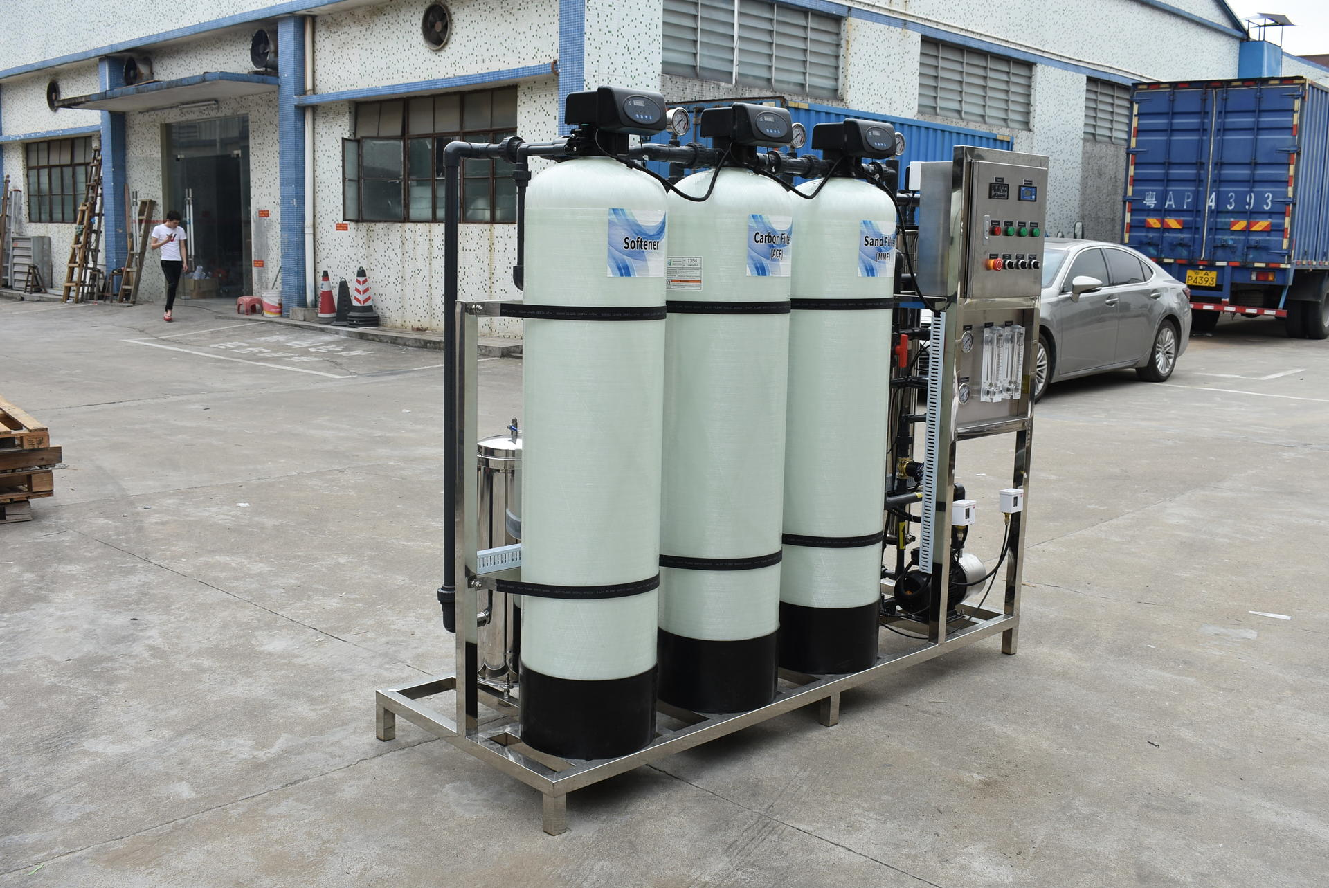 Industrial ro plant 750 LPHwater purifier machine ro treatment plant for factory