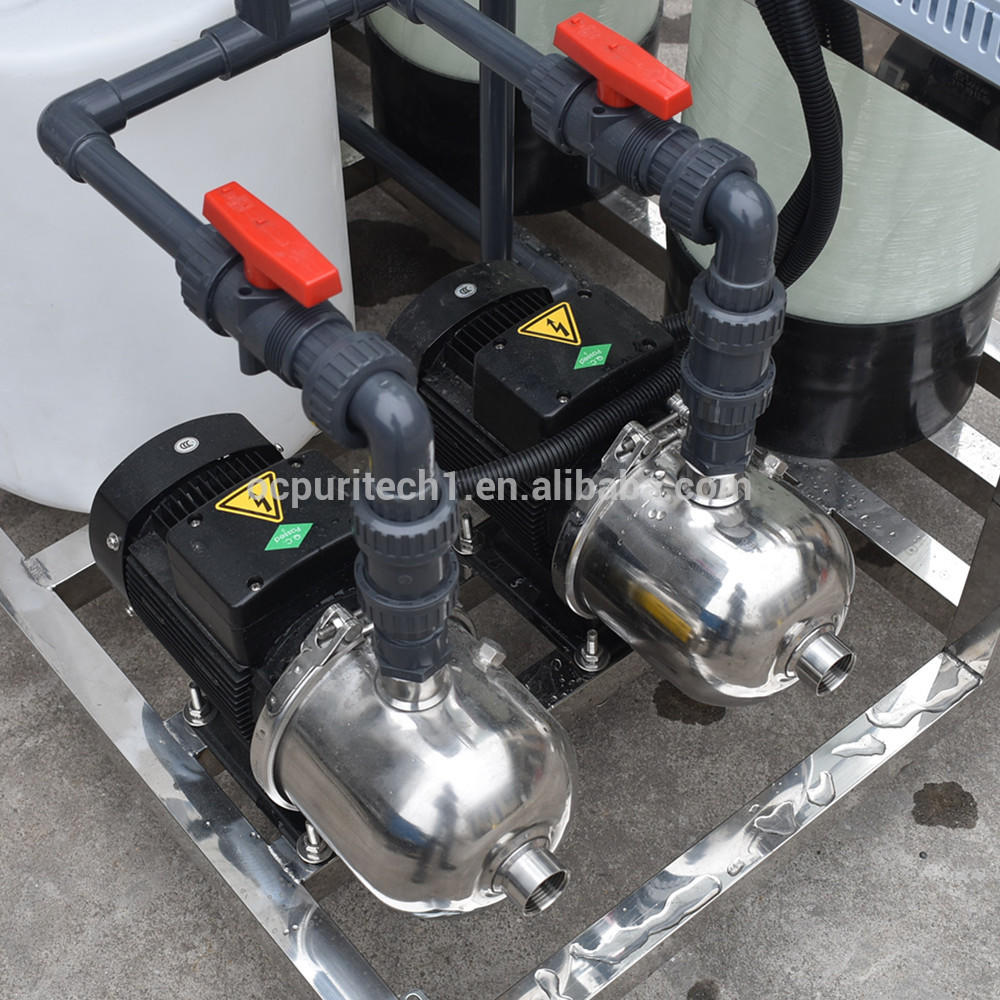 Mini mineral water plant salt water treatment system 250LPH RO water ro system
