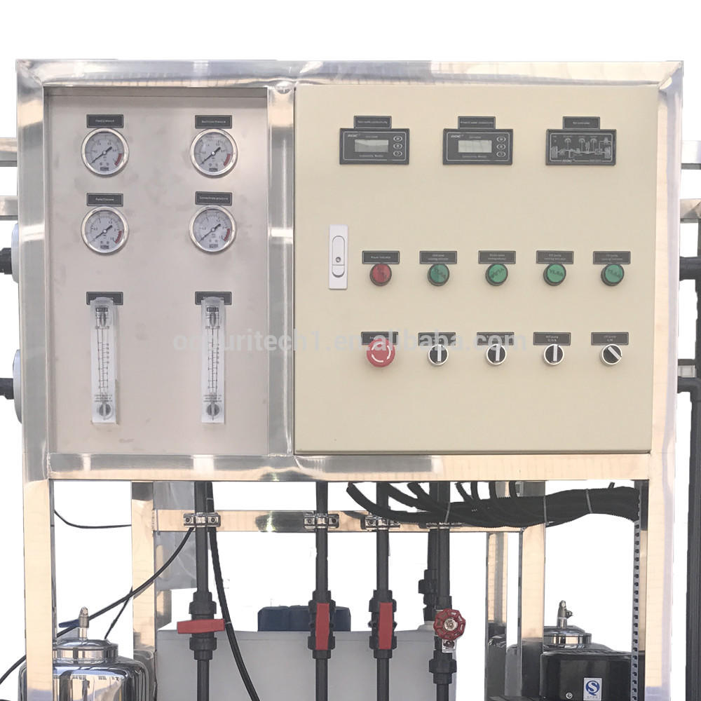 500lph RO water treatment plant/salt water purifier with CIP system